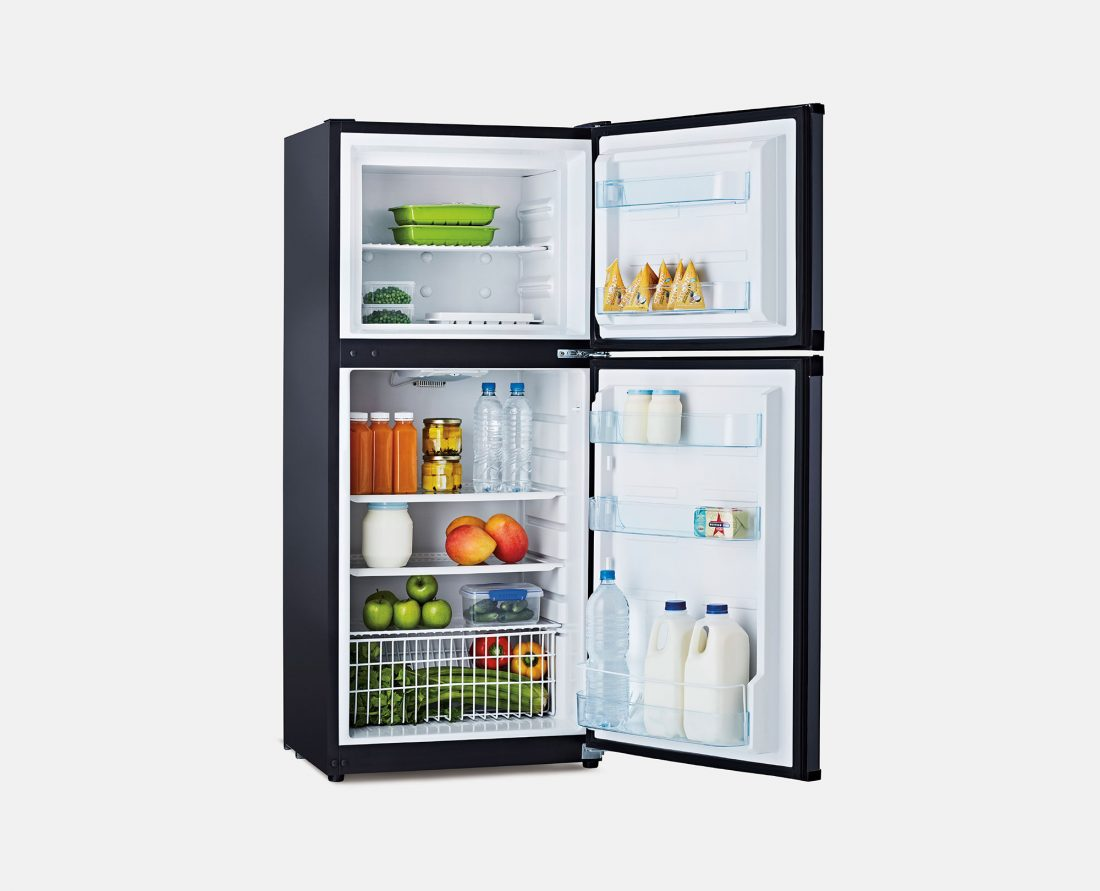 Bushman Upright DC Fridge DC190L-X - Open