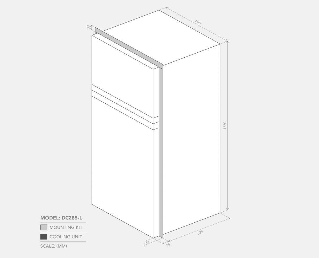 DC285-L Dimensions