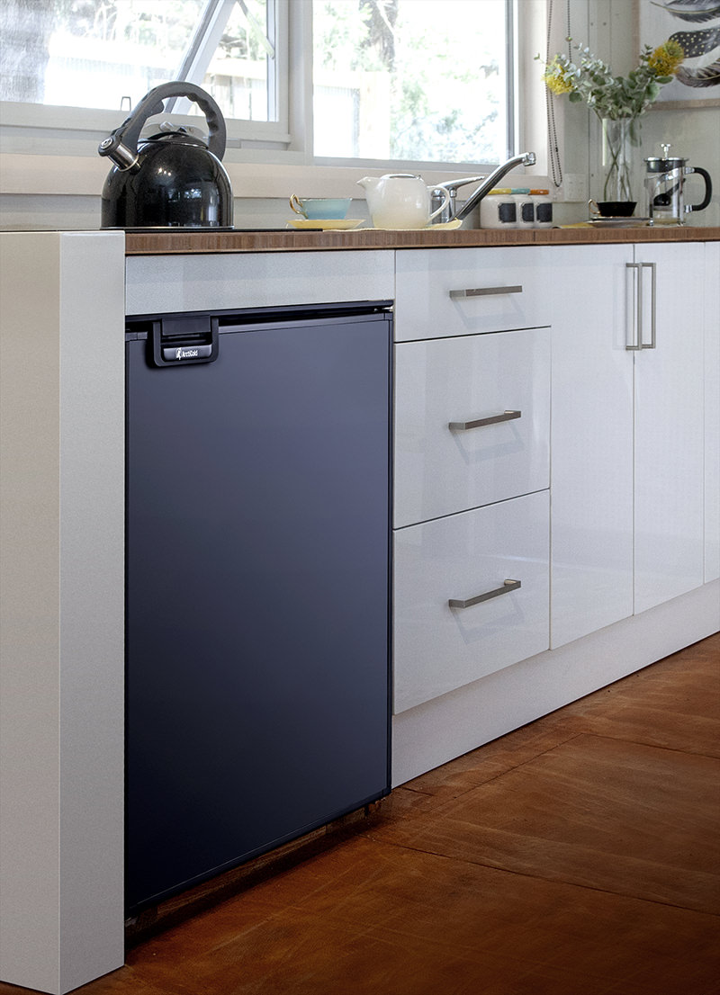 DC compressor fridge in a tiny house